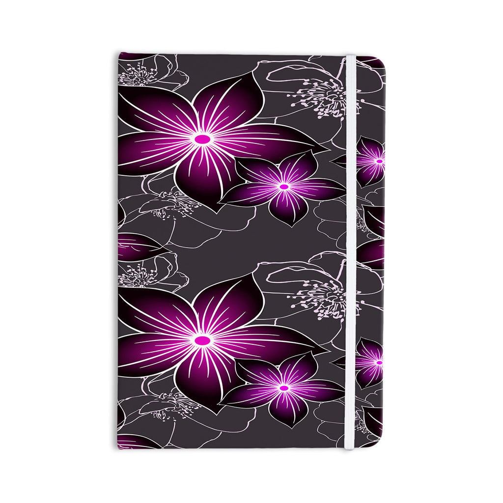 "Alison Coxon ""Charcoal And Amthyst"" Gray Purple Everything Notebook - KESS InHouse  - 1"