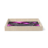 "Alison Coxon ""Charcoal And Amethyst"" Gray Purple Birchwood Tray"