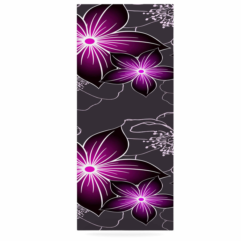 "Alison Coxon ""Charcoal And Amthyst"" Gray Purple Luxe Rectangle Panel - KESS InHouse  - 1"