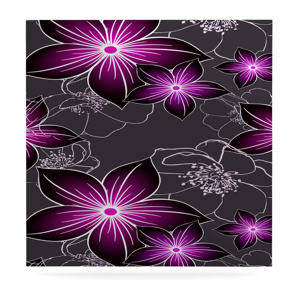 "Alison Coxon ""Charcoal And Amthyst"" Gray Purple Luxe Square Panel - KESS InHouse  - 1"