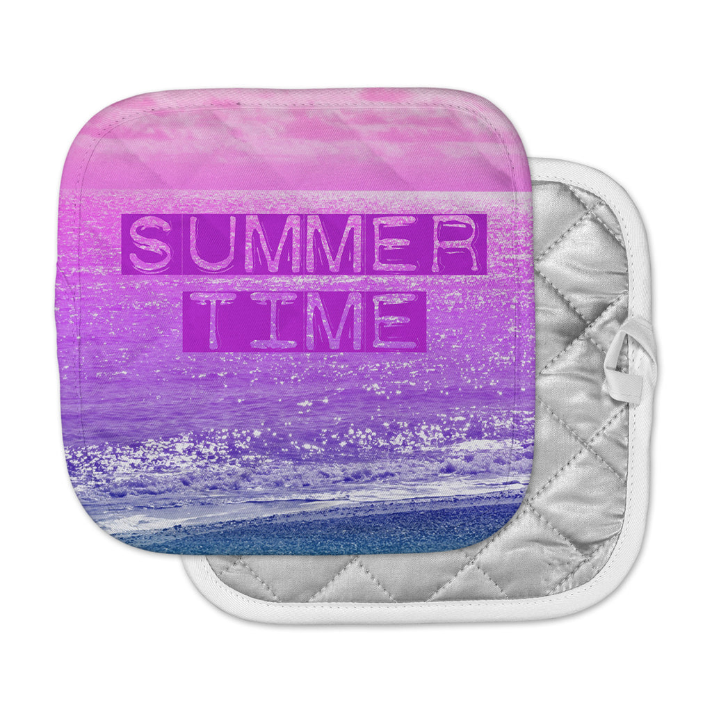 "Alison Coxon ""Summer Time"" Pink Typography Pot Holder"