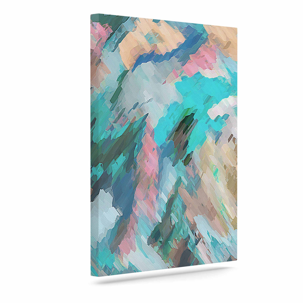 "Alison Coxon ""Giverny Blue"" Teal Abstract Canvas Art - KESS InHouse  - 1"