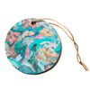 "Alison Coxon ""Giverny Blue""  Circle Holiday Ornament"