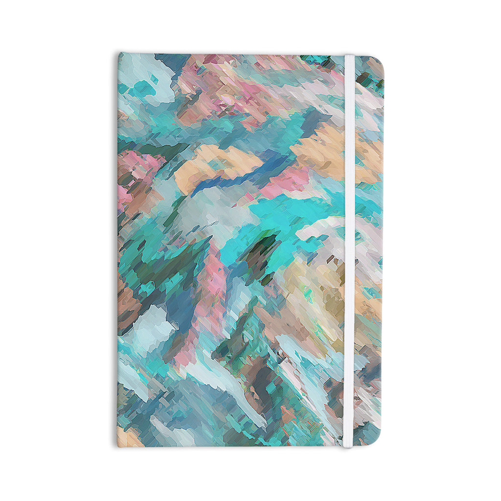 "Alison Coxon ""Giverny Blue"" Teal Abstract Everything Notebook - KESS InHouse  - 1"