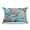 "Alison Coxon ""Giverny Blue"" Teal Abstract Pillow Sham - KESS InHouse  - 1"