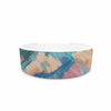 "Alison Coxon ""Giverny Blue"" Teal Abstract Pet Bowl - KESS InHouse"