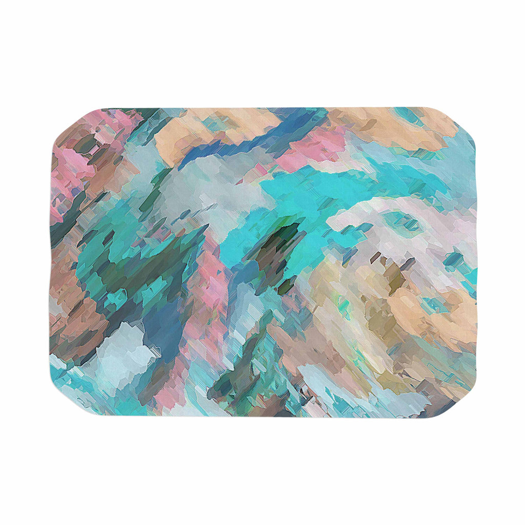 "Alison Coxon ""Giverny Blue"" Teal Abstract Place Mat - KESS InHouse"