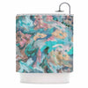 "Alison Coxon ""Giverny Blue"" Teal Abstract Shower Curtain - KESS InHouse"