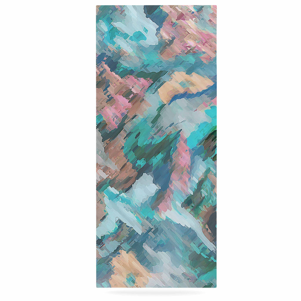 "Alison Coxon ""Giverny Blue"" Teal Abstract Luxe Rectangle Panel - KESS InHouse  - 1"