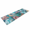 "Alison Coxon ""Giverny Blue"" Teal Abstract Yoga Mat - KESS InHouse  - 1"