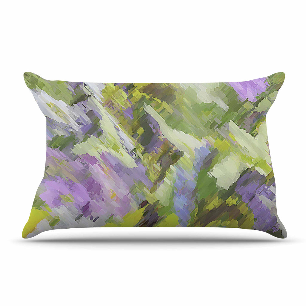 "Alison Coxon ""Giverny Lilac"" Yellow Pattern Pillow Sham - KESS InHouse  - 1"