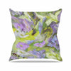 "Alison Coxon ""Giverny Lilac"" Yellow Pattern Outdoor Throw Pillow - KESS InHouse  - 1"