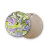 "Alison Coxon ""Giverny Lilac"" Round Wooden Cutting Board"