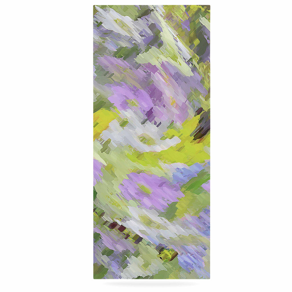 "Alison Coxon ""Giverny Lilac"" Yellow Pattern Luxe Rectangle Panel - KESS InHouse  - 1"