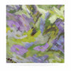 "Alison Coxon ""Giverny Lilac"" Yellow Pattern Luxe Square Panel - KESS InHouse  - 1"