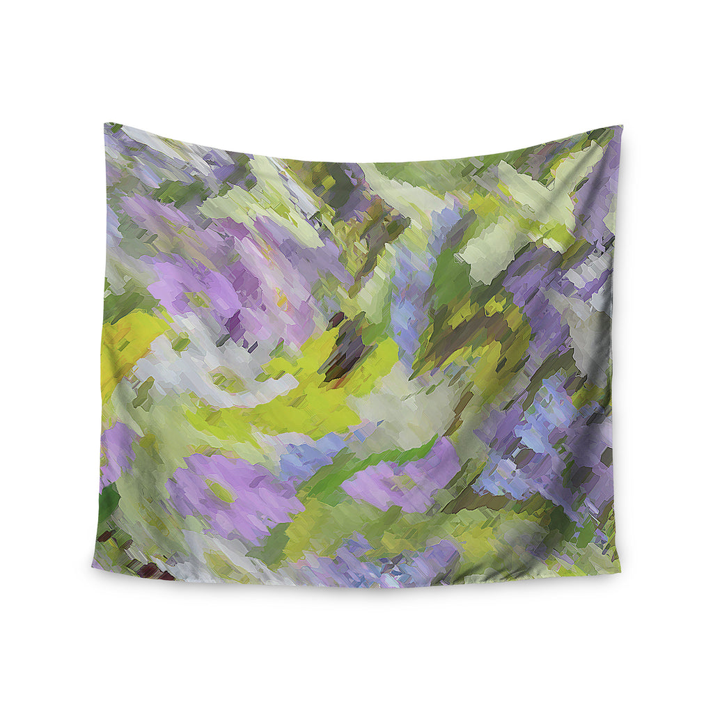 "Alison Coxon ""Giverny Lilac"" Yellow Pattern Wall Tapestry - KESS InHouse  - 1"