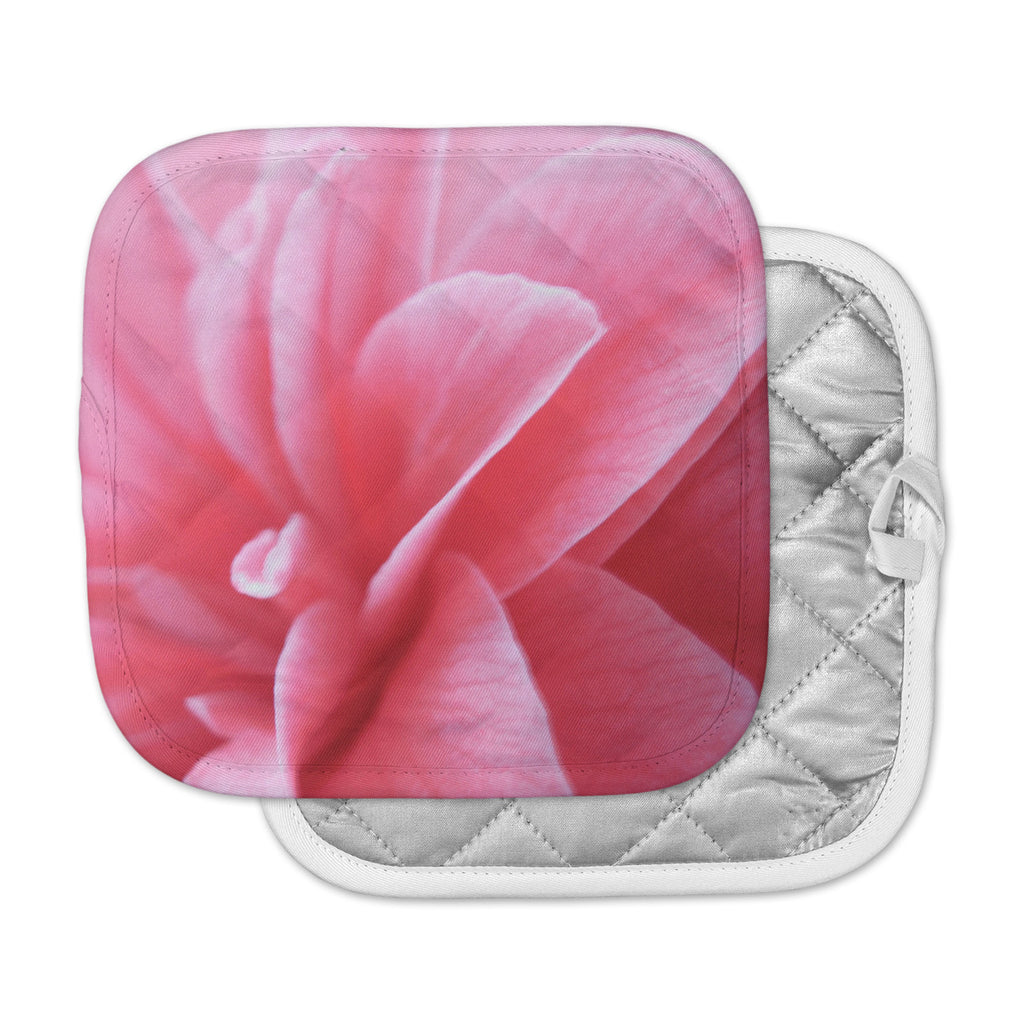 "Alison Coxon ""Camellia"" Pink Greeen Pot Holder"