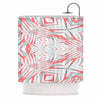 "Alison Coxon ""Planthouse Raspberry"" Coral Gray Shower Curtain - KESS InHouse"