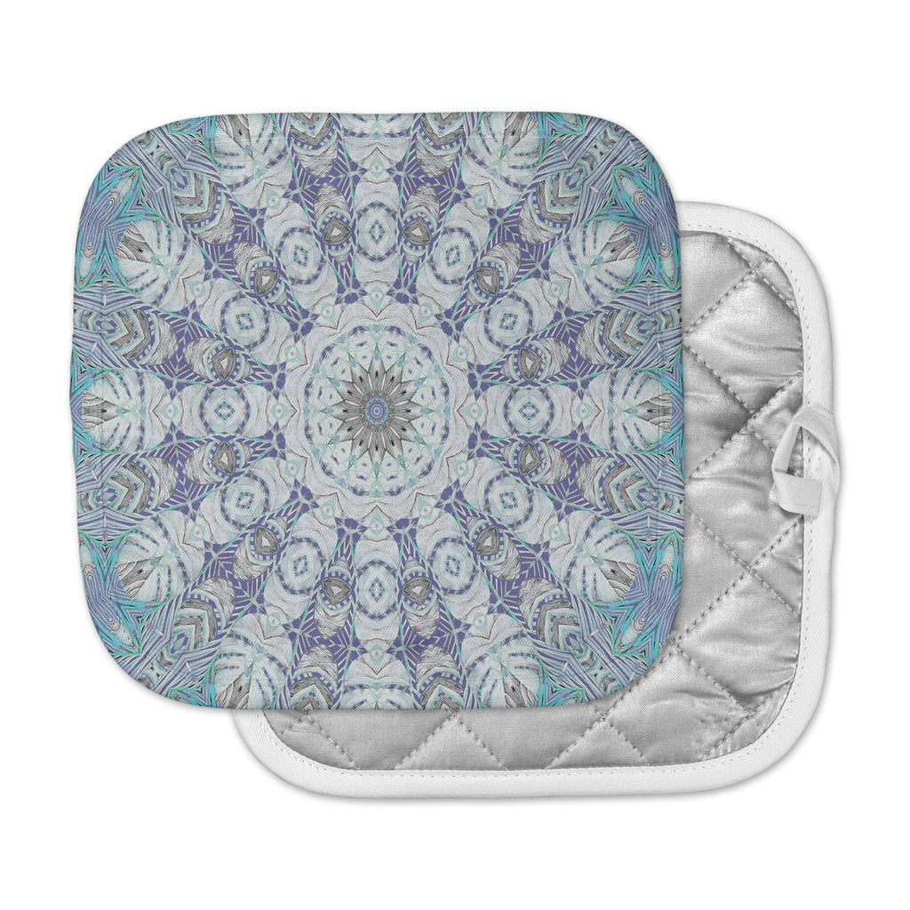 "Alison Coxon ""Jungle Kaleidoscope Cool "" Blue Purple Pot Holder"