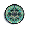 "Alison Coxon ""Paradise Yellow"" Black Teal Modern Wall Clock"