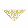 "Alison Coxon ""Flaxen Mandala"" White Yellow Digital Pet Bandana"