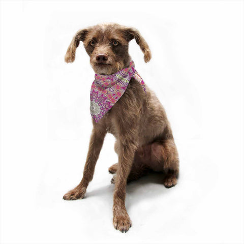 "Alison Coxon ""Tribal Fire"" Pink Purple Pet Bandana - Outlet Item"