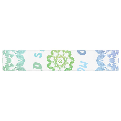 "Alison Coxon ""Stay Wild Moon Child"" Blue Green Digital Table Runner"