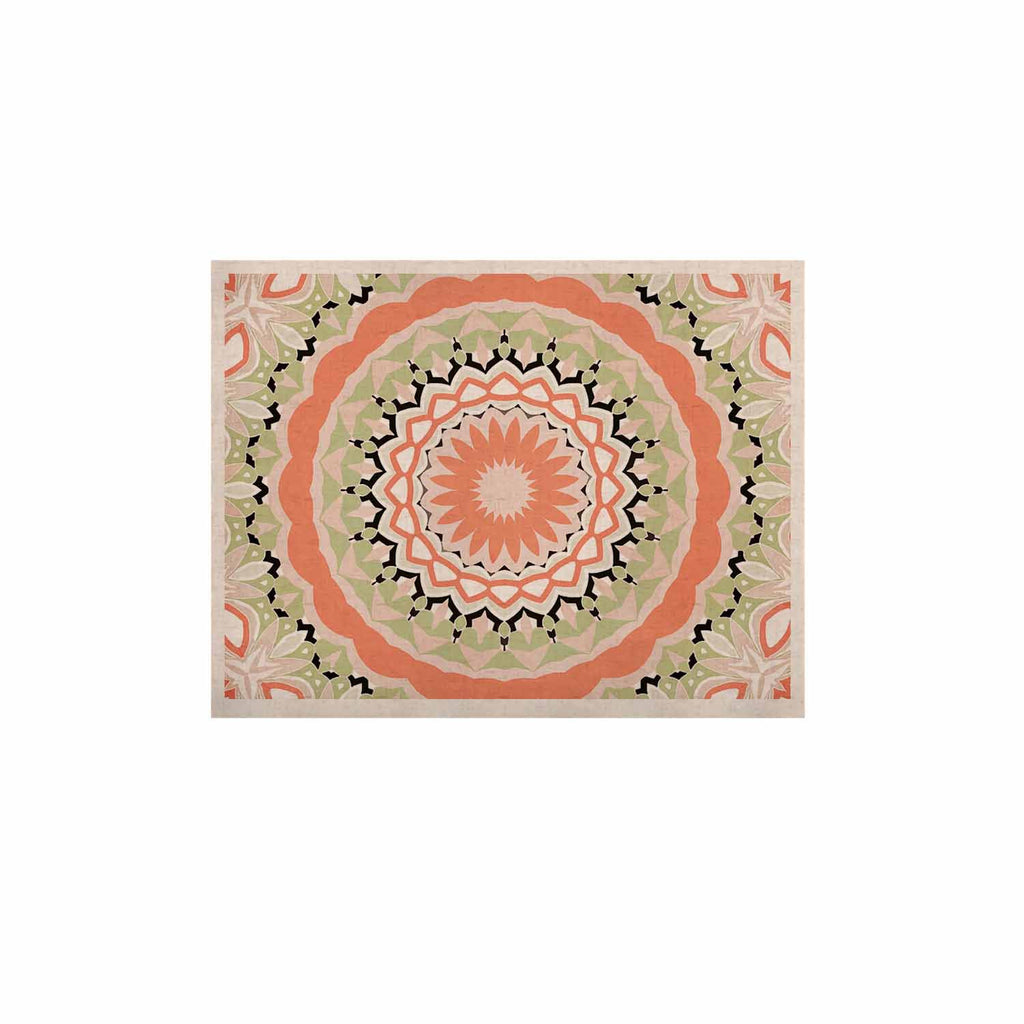 "Alison Coxon ""Mango Tango Mandala"" Orange Olive Digital KESS Naturals Canvas (Frame not Included)"