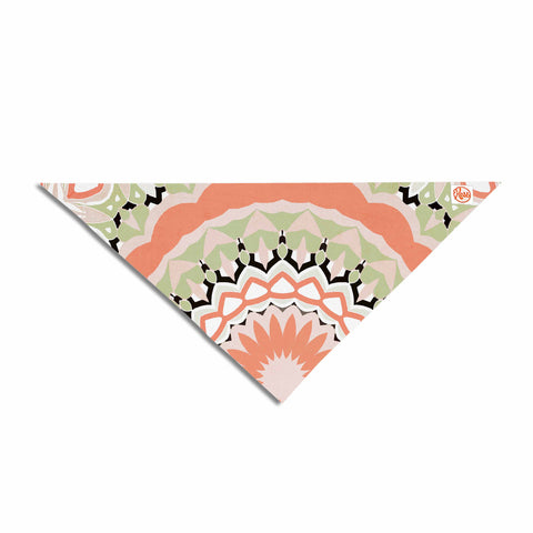 "Alison Coxon ""Mango Tango Mandala"" Orange Olive Digital Pet Bandana"