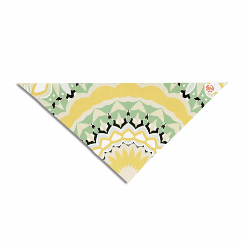 "Alison Coxon ""Mellow Yellow"" Yellow Green Digital Pet Bandana"