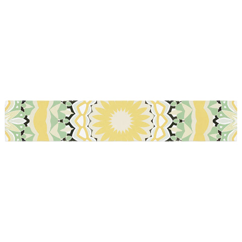 "Alison Coxon ""Mellow Yellow"" Yellow Green Digital Table Runner"