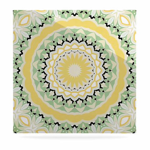 "Alison Coxon ""Mellow Yellow"" Yellow Green Digital Luxe Square Panel"