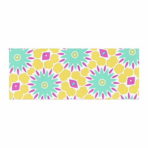 "Alison Coxon ""Summer Bright Floral"" Yellow Blue Pattern Bed Runner"