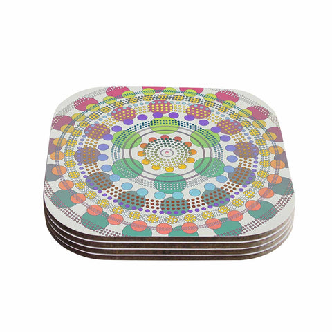 "Angelo Cerantola ""Mirage"" Beige Multicolor Coasters (Set of 4) - Outlet Item"