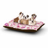 "Angelo Cerantola ""Rosebreath"" Pink Floral Dog Bed - KESS InHouse  - 1"