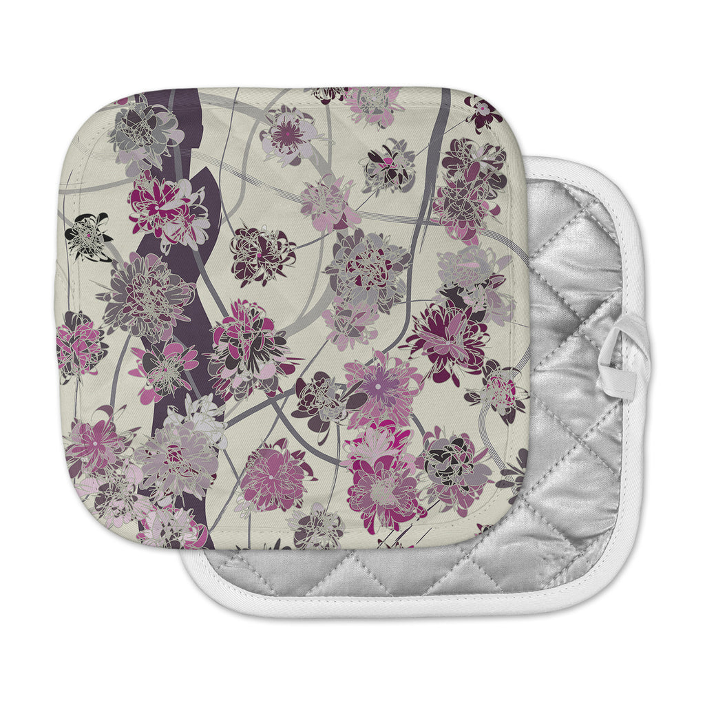 "Angelo Cerantola ""Springtime Again"" Pink Floral Pot Holder"