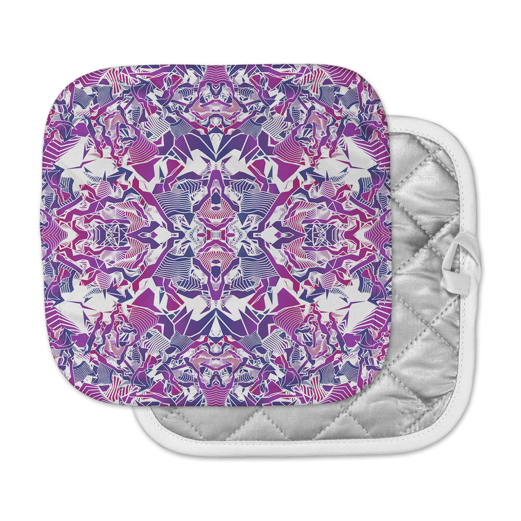 "Angelo Cerantola ""Purple Tribe"" Purple Blue Digital Pot Holder"