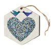 "Angelo Cerantola ""Our Love""  Hexagon Holiday Ornament"