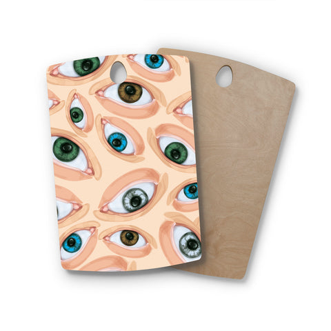"Alisa Drukman ""Eyes"" Eyeballs Rectangle Wooden Cutting Board"