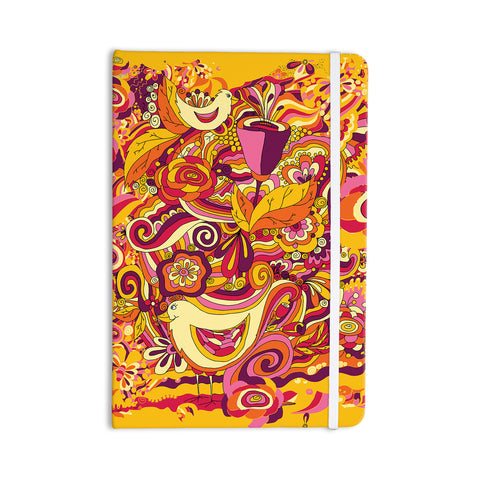 "Alisa Drukman ""Utopia"" Orange Gold Everything Notebook - KESS InHouse  - 1"