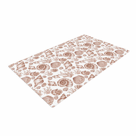 "Alisa Drukman ""Seashells"" Brown Nature Woven Area Rug - Outlet Item"