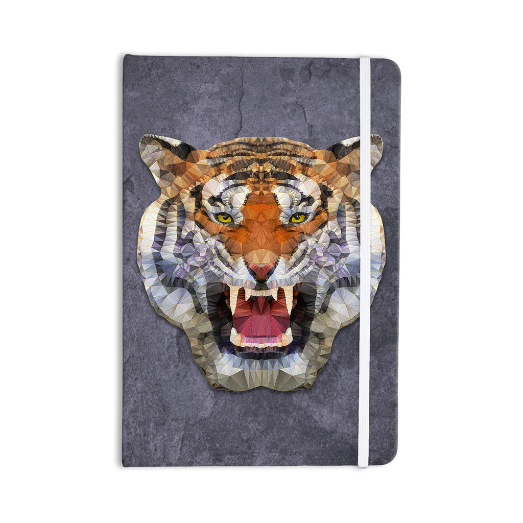 "Ancello ""Abstract Tiger"" Gray Orange Everything Notebook - KESS InHouse  - 1"