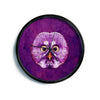 "Ancello ""Hoot!"" Owl Purple Modern Wall Clock"