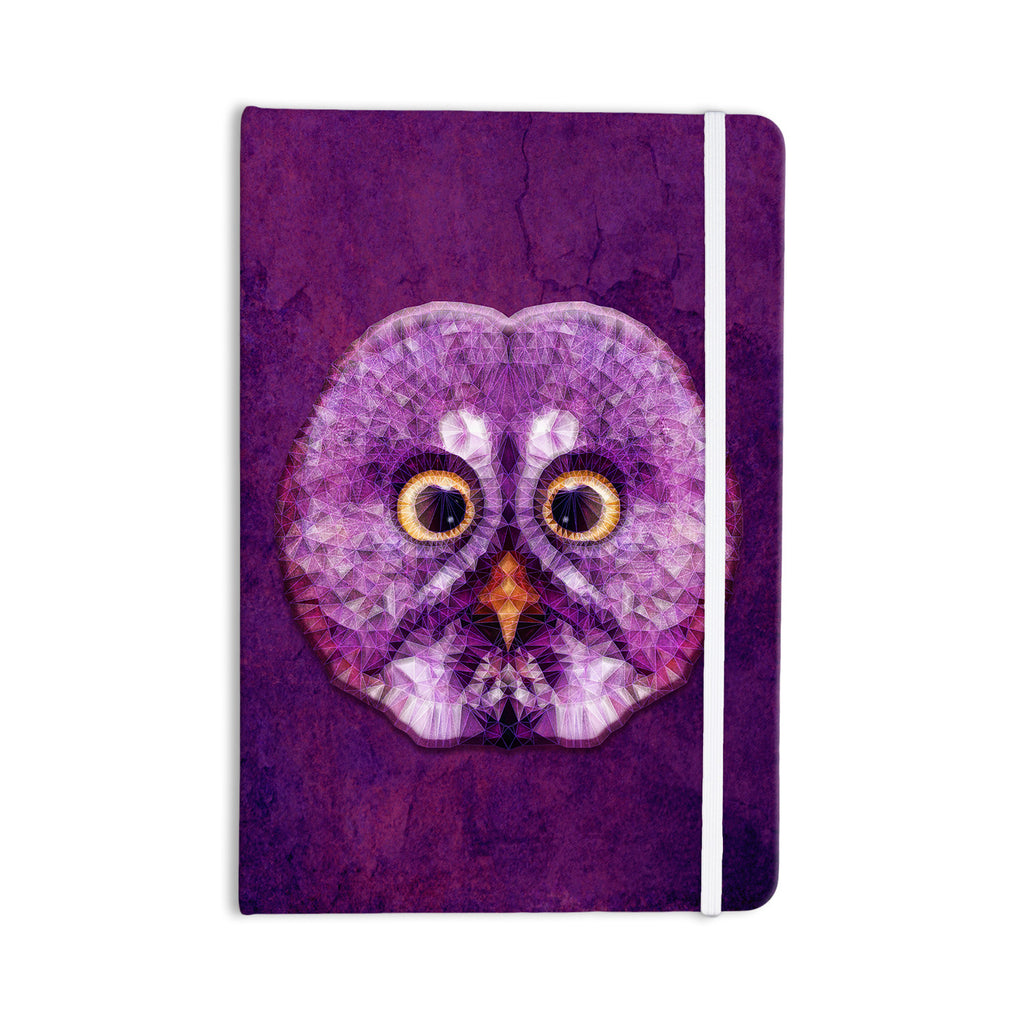 "Ancello ""Hoot!"" Owl Purple Everything Notebook - KESS InHouse  - 1"