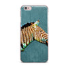 "Ancello ""Laughing Zebra"" Teal iPhone Case - KESS InHouse"