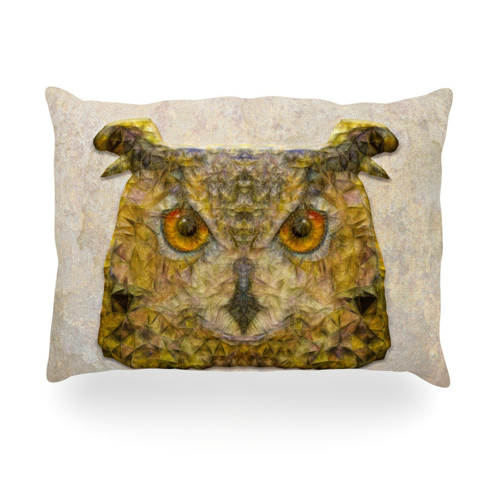 "Ancello ""Abstract Owl"" Brown Oblong Pillow - KESS InHouse"