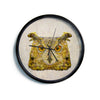 "Ancello ""Abstract Owl"" Brown Modern Wall Clock"