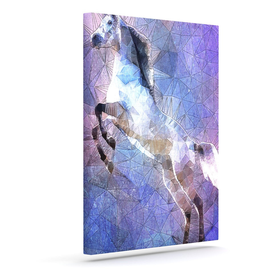 "Ancello ""Abstract Horse"" Purple Blue Canvas Art - KESS InHouse  - 1"