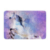 "Ancello ""Abstract Horse"" Purple Blue Memory Foam Bath Mat - KESS InHouse"