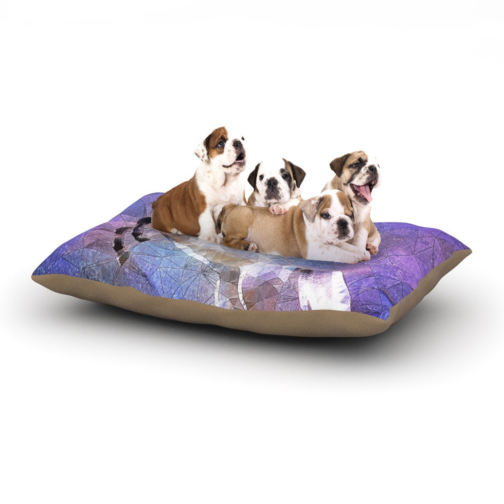 "Ancello ""Abstract Horse"" Purple Blue Dog Bed - KESS InHouse  - 1"